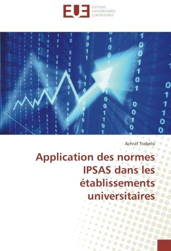 Application des normes IPSAS dans les é...