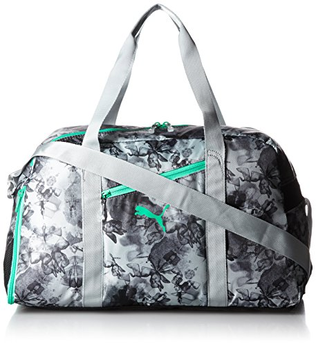 PUMA Fitness Tasche Fit AT Sports Duffle, Quarry/Mint Leaf/Graphic, OSFA, 073804 04