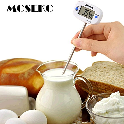 Sellify MOSEKO New Kitchen Cooking Food Meat Probe BBQ Digital Thermometer, Chocolate Oven Thermometer Dropshipping wholesale TA288