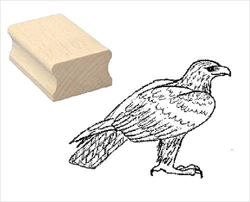Stempel Holzstempel Motivstempel « STEINADLER » Scrapbooking - Embossing Kinderstempel Tierstempel Ornitologe Vogel Adler (Adler-stempel)