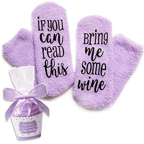Lila Luxus-Wein-Socken mit