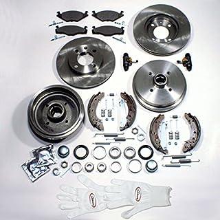 Autoparts-Online Set 60002235 Bremsscheiben + Beläge Vorne + Bremstrommeln + Backen Radlager Zubehör Hinten
