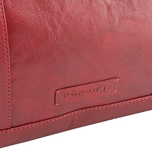 Plevier 600er Serie Sac à main - porté main cuir 41 cm compartiment ordinateur portable Rouge