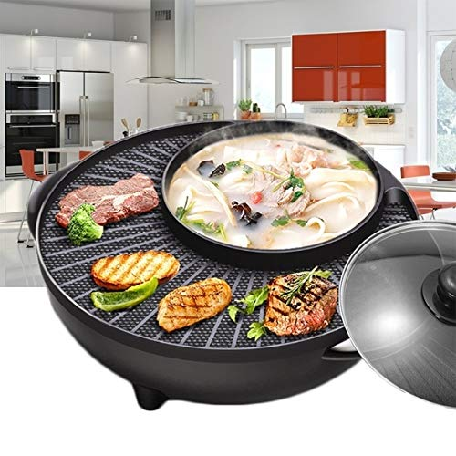 OOFAT Multifunktions-Elektro-Skillet Non-Stick Edelstahl Hot Pot Nudeln Reiskocher Gedämpfter Ei Suppentopf Mini Heizung Pfanne Gebraten Kochen