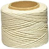 Lehigh 616320-feet ligero Core herida algodón trenzado cordel, color blanco