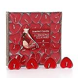 50pcs velas en forma de C & # x153; ur Real en colores romántico bólido parfumé de recepción de boda para la casa