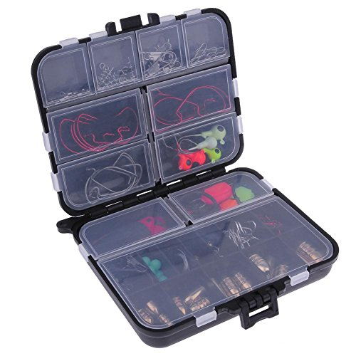 Everpert 128pcs Sea Fishing Köder Rigs Rock Meer Fischköder Box Tackle Tool Kit