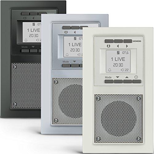SIEMENS Steckdosen RADIO in Aluminiummetallic DELTA miro Unterputz - Radio inkl. Montagewerkzeug zur problemlosen Montage