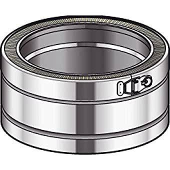 Elément droit THERMINOX TI , diamètre 150 mm ,Lg: 10 cm Réf. ED 100 150TI / 21150002