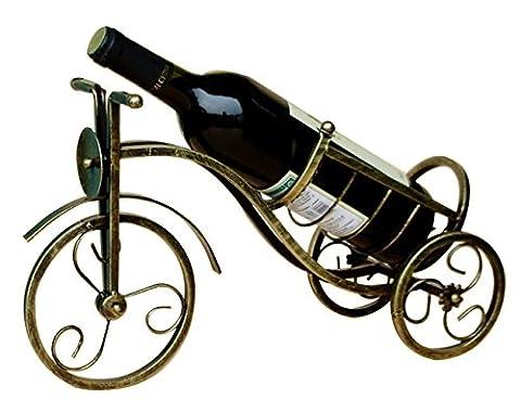KZJYL Porte-vins Porte - bouteilles de vin Casier Tricycle rétro Tricycle Porte-bouteille de vin de fer Surdimensionné Heavy Style Wine Display Stand Metal Crafts Décor de vin rouge, disponible en 3 couleurs Artisanat Ouvrages d'art ( Color : Red Copper )