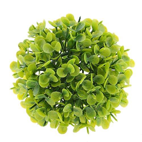 FITYLE Künstliche Blumen Set Simulation Pflanze Innen-Und Außenbereich Pflanzenkugeln Heimtextilien Dekoration Grüne Pflanze Plastik Blumenkugel Kleine Bonsai