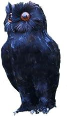 Lifelike Feather Owl Decoy Bird Rodent Deter Scarer Repellent Scarecrow Halloween Decor