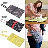 RIANZ All New Baby Diaper Changing Pad, Extra Large Waterproof Mat for Stroller Walks or Diaper Bag, Fits Newborn and Toddler for Quick Change on The go