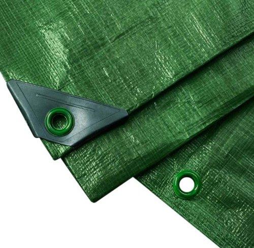 NOOR Abdeckplane PROFI 140g/m2 Grün I 3 x 6 m I Allzweckplane für Schutz vor Witterung I Ideal geeignet für Gartenbereich I UV-stabilisiert, beidseitig beschichtet, wasserfest und abwaschbar