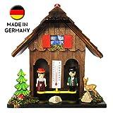 Selva Wetterhäuschen Freiburg niedliche Wetterhaus zeigt durch Seine Figuren Das Wetter an – Exclusives Handgemachtes Wetterhäuschen Made in Germany –