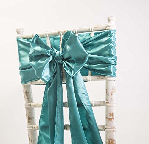 Satin-Schärpen und passende Tischläufer, Dekoration für Hochzeiten / Veranstaltungen / Partys, in verschiedenen Farben erhältlich Sash Teal