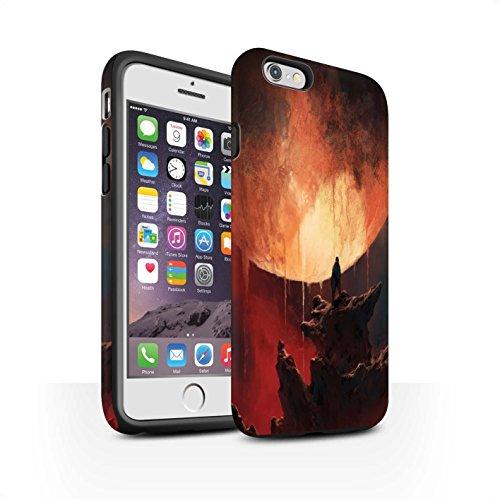 Offiziell Chris Cold Hülle / Matte Harten Stoßfest Case für Apple iPhone 6S / Pack 12pcs Muster / Fremden Welt Kosmos Kollektion Schmelzen Sonne