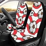 Calcio Outdoor Sport Supply Custom Nuovo Universale Fit Auto Drive Car Seat Covers Protector per Le Donne Automobile Jeep Truck SUV Veicolo Set Completo Accessori per Adulti(Set di 2 Anteriore)