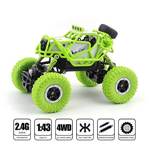 Protokart-Dirt-Drift-Waterproof-Remote-Controlled-Rock-Crawler-Rock-Through-Off-Road-i-ghost-RC-Monster-Truck-Four-wheel-Drive-143-Scale-24-GHZ-Latest-2018-design-and-model