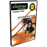 Click Free DVD Music Edition Automatic Back Up 3 pack