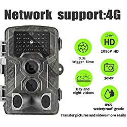 Suntek 4G 3G Camera de Chasse GSM SMS 16MP 1080P Hunting Trail Camera Avec 42 Infrarouges LEDS Vision Nocturne Infrarouge 65pied.800LTE