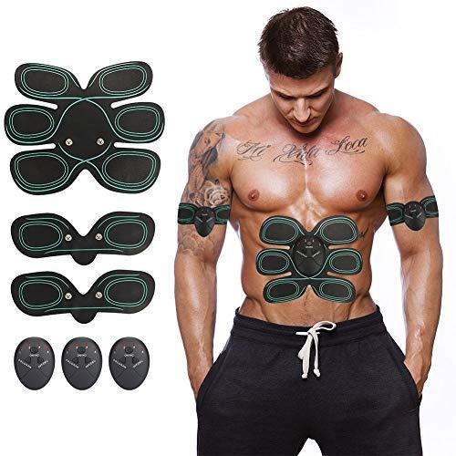 Aparato Abdominal, Inteligente Cinturón Abdominal Masaje Muscular Ubicación múltiple del Brazo Fitness o Muslos Entrenamiento Tonificación Gimnasio casero Entrenamiento para Hombre Mujer