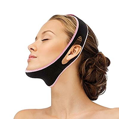 PEPECARE Facial Slimming Double Chin Cheek Band Strap Mask V Face Shaper Sleeping Massage from PEPECARE