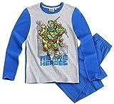 Tortues Ninja Pyjama Long Enfant Garçon Gris/Bleu DE 6 à 12ans (10 Ans)