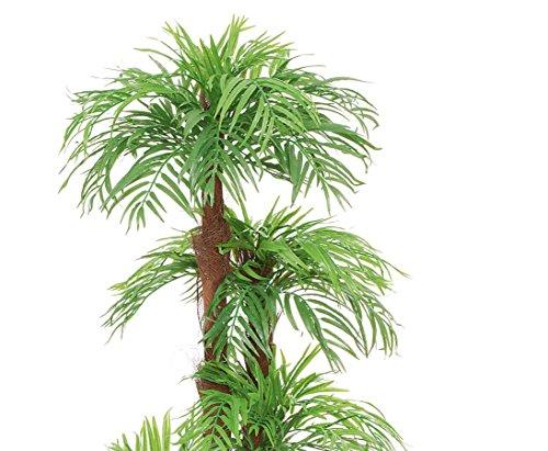 Areca Palme, Kunstpalme mit Baststamm, mit Zementtopf, Höhe ca. 170cm – künstliche Palme Dekopalmen