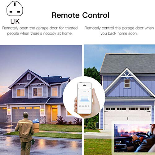 Glomixs Smart WiFi Garage Door Opener Remote Controller, Smart Home Garage Door Opener WiFi Wireless Remote Controller Switch, Smart WiFi Switch Garage Door Opener Controller Work