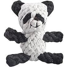 Eizur Pet Cane Gatto Masticare Cotone Giocattoli Treccia Panda Masticazione Bambola Interattivi Formazione Giocattoli Denti Pulito per Cucciolo Toss, Fetch, Gioco