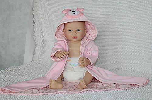 Nicery Renacido de la Reborn muñeca del silicon duro 20inch 50cm magnetica precioso realista del juguete lindo del rosa del chica del oso Reborn Baby Reborn Doll