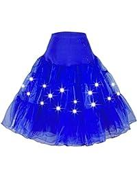 Lukis Damen Ballett Tutu Unterkleid mit LED Licht Rock