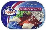 Appel Heringsfilets, zarte Fisch-Filets Tomate Burgunder Art, MSC zertifiziert, 200 g