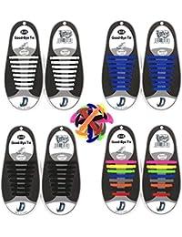 Cordones de Silicona , No Hay Necesidad de Atar, sin corbata Cordones de zapatos para niños y adultos, Cordones Zapatos Elasticos
