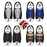 No Tie Élastiques Lacets de Silicone, Enfants Lacet de chaussures en Silicone, Étanche Lacets de Chaussures Pour Jeunesse, Silicon Tieless Shoelace pour Chaussures de Sport décontractées