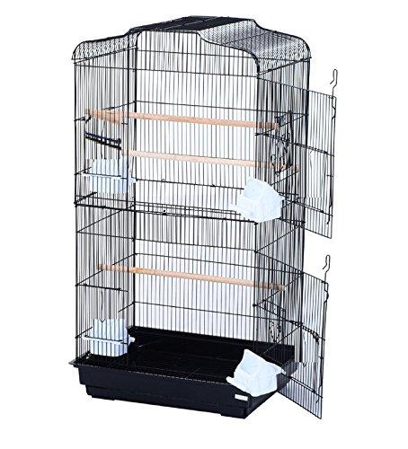Pet Zone TALL XL BUDGIE COCKATIEL FINCH BIRD CAGE BLACK/WHITE NBH3081 (BLACK) 3
