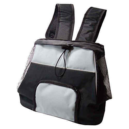 Hunderucksack Fronttasche 32 x 37 x 24 cm schwarz/grau Frontrucksack Rucksack