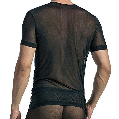 T-Shirt V-Neck RED 1565 Black / Schwarz