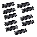 10 Black ECS Compatible Toner Cartridges Replace CF283A for HP Printer LaserJet Pro M125 125FW 125A M126 M126A M127 M127FW M127FN M201 M225MFP