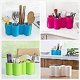 Daktuoso Plastic Kitchen Utensil Holder Dinnerware Rack Tableware Organizer Boxes Spoon Rest Fork Stand Knife Box - Random Color