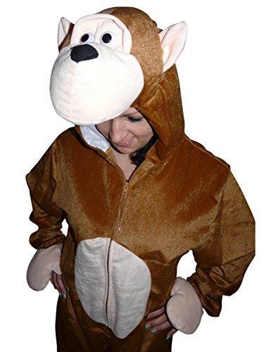F28 Gr. M Affe Kostüm Karneval Tierkostüm Affenkostüm Kostüme Fasching (Gorilla Und Käfig Kostüme)