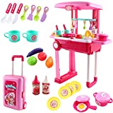 deAO SC-KP Kitchen Little Chef Set en Maleta Convertible portátil con Luces de Sonido y Accesorios...