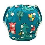 Eco Green Baby - 3 in 1 - Reusable Swim Diaper + Diaper Cover + Training Pants-Dino