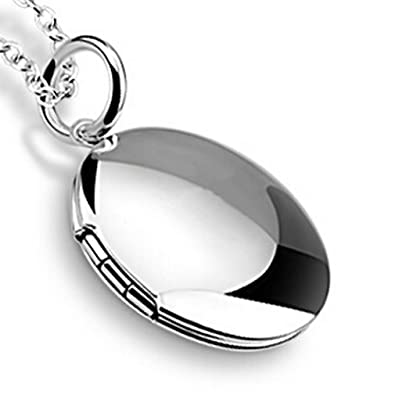 Promotions silver plated pendant lockets necklaces for women girls promotions silver plated pendant lockets necklaces for women girls men for photos 45cm chains amazon jewellery aloadofball Gallery