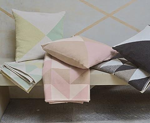 David fussenegger sylt plaid motif triangles 140 x 200 cm en coton mélangé 4170, Coton mélangé, vieux rose, 140 x 200