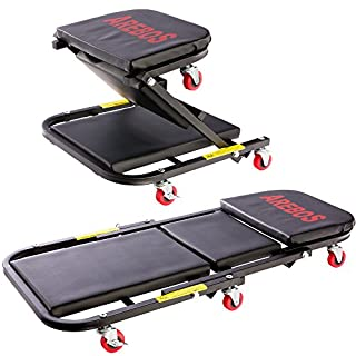 Arebos 2 in 1 Workshop Creeper/up to 150kg / 6 Wheels/Convertible/Sitting and Lying Function