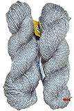 #10: Vardhman Charming Steel Grey Wool Hand knitting wool / Art Craft soft fingering crochet hook yarn, needle Acrylic knitting yarn thread dyed 200 gm