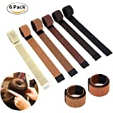 Websun - Juego de 6 cintas para hacer moño de estilo corona, herramienta de peluquería