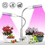 Lampe pour Plante, KINGBO 50W Lampe de Croissance Plante Led Horticole Lampe, 100 LEDs Spectre Complet Led Grow Light pour Les Plantes D'intérieur(Lumière Rouge/Bleue)